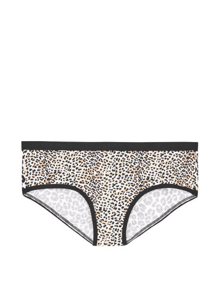 Трусики Victoria's Secret Leo print Cotton Hiphugger panty VS logo