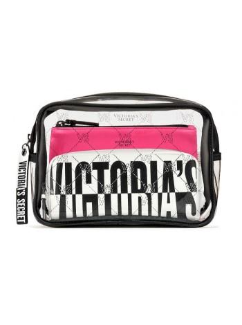 3 в 1 косметичка Victoria's Secret Beauty Bag Trio VS MONOGRAM