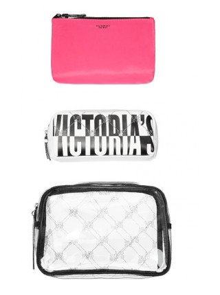 3 в 1 косметичка Victoria's Secret Beauty Bag Trio VS MONOGRAM