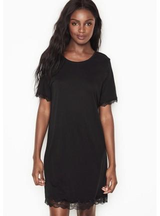 Ночная рубашка Victoria's Secret Modal Black Lace