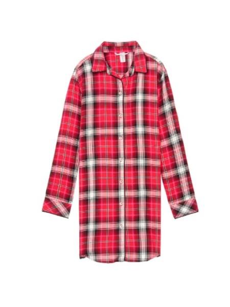 Ночная рубашка Victoria's Secret Flannel Sleep Shirt Top