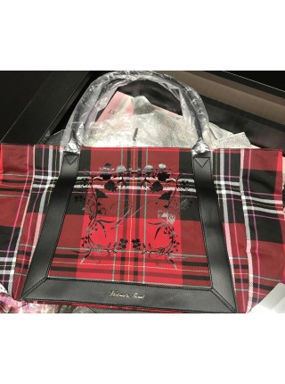 Пляжная сумка Victoria's Secret Red plaid tote