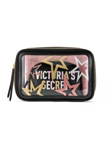 3 в 1 косметичка Victoria's Secret Beauty Bag Trio print Stars