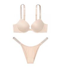 Комплект белья Victoria's Secret Very Sexy Jeweled Shine Strap Champagne