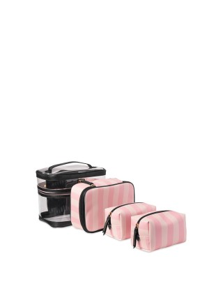 4-in-1 VICTORIA'S SECRET Train case in Signature Stripe