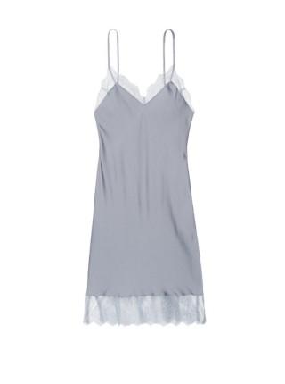 Пеньюар Victoria's Secret Satin Grey Lace slip