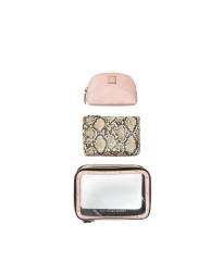 3 в 1 косметичка Victoria's SecretBackstage Nested Trio Cosmetic Bag Snake print