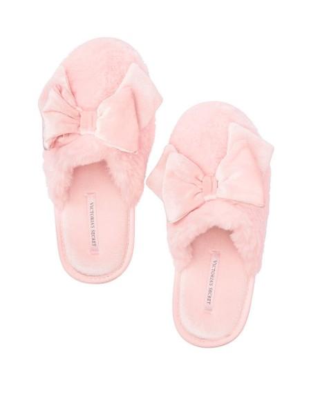 Домашние тапочки Victoria's Secret розовые с бантиком