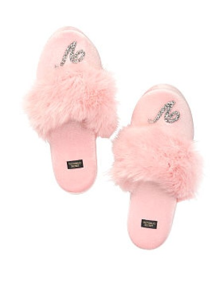 Домашние тапочки Victoria's Secret Slippers Shine Logo V