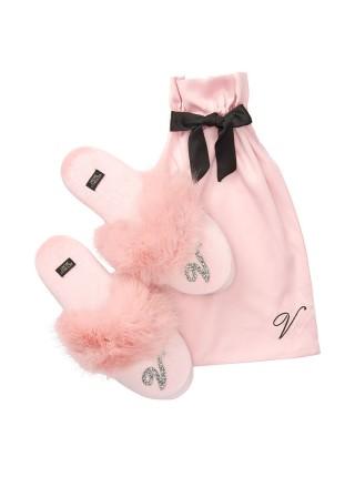 Домашние тапочки Victoria's Secret Slippers Shine Logo V