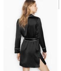 Сатиновый халат Victoria's Secret Very Sexy Black