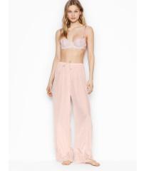 Пижама Victoria's Secret Satin Lace Long PJ Set Light pink