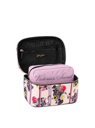 Бьюти кейс VICTORIA'S SECRET Pink Micro Dot Small Weekender Train Case