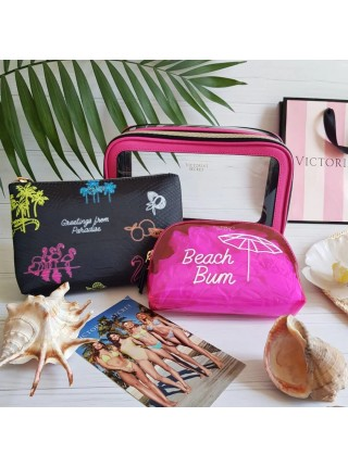 3 в 1 Набор косметичек Victoria's Secret Beach Bum Backstage Nested Trio