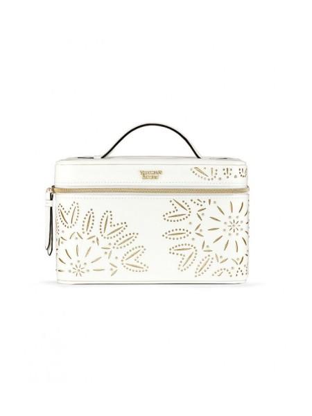 Бьюти кейс VICTORIA'S SECRETLaser-Cut Floral White Runway Vanity Case