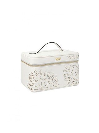 Бьюти кейс VICTORIA'S SECRET Laser-Cut Floral White Runway Vanity Case