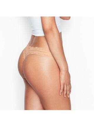 Трусики Victoria's Secret Nude Lace Thong panty