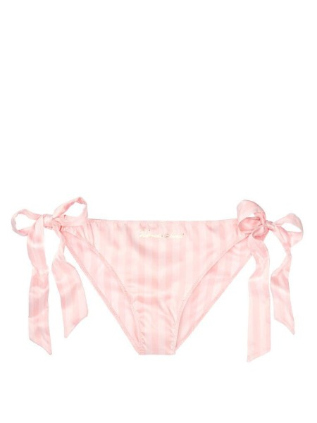 Трусики Victoria's Secret Very Sexy Satin string cheeky with pink stripes