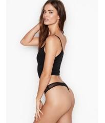 Трусики Victoria's Secret Lace Thong Black