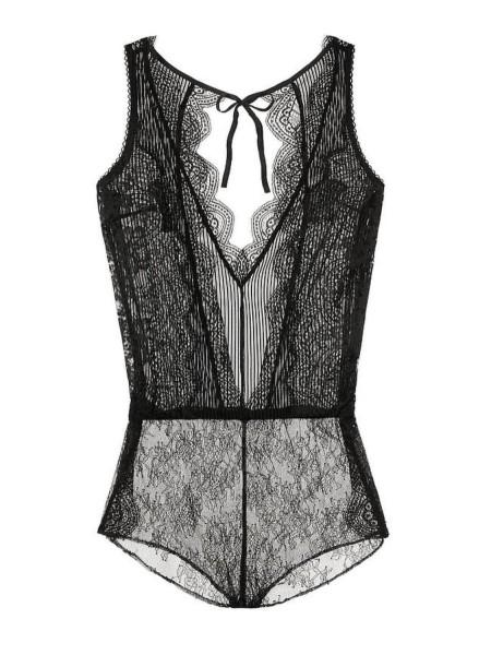 Боди Victoria's Secret Black Lace