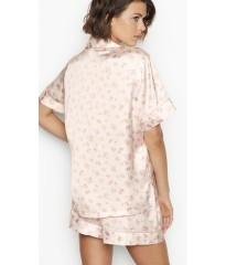 Сатиновая пижама Victoria's Secret The Satin Short PJ Set Bride Flower print
