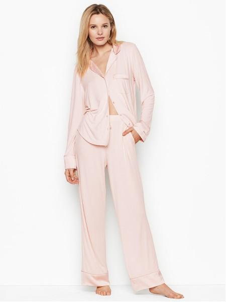 Пижама Victoria's Secret Super soft Long PJ Set Light pink