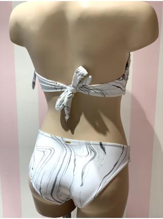 Купальник бандо Victoria's Secret PINK White & Black print