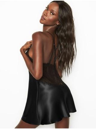 Пеньюар Victoria's SecretBlack Lace Plunge Slip