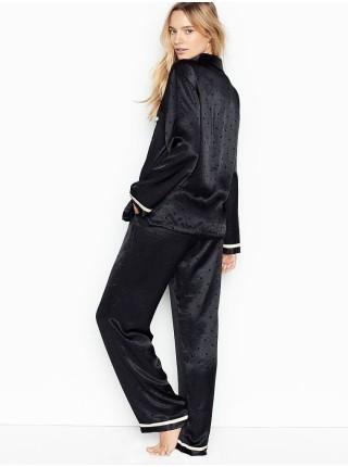 Пижама Victoria's Secret The Satin Black PJ Set