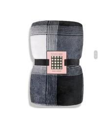 Плед Victoria's Secret Plaid Fleece Cozy Blanket grey
