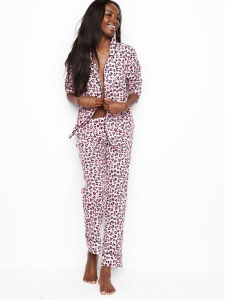 Пижама Victoria's Secret LEOPARD PRINT LONG