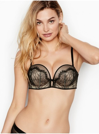 Бюстгальтер Victoria's Secret Very Sexy Bra Bombshell Multiway ADDS 2 CUP Sizes Black Lace