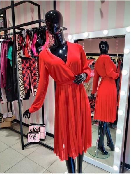 Cuteberry красное платье шифон