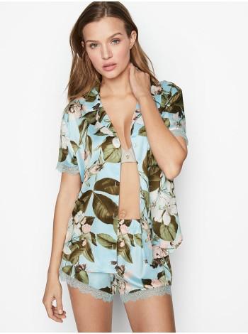 Сатиновая пижама Victoria's Secret Short FLOWER PRINT