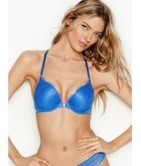 Бюстгальтер Victoria's Secret Very Sexy Bra Push-up Front Close Lace Vivid Blue