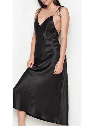 Пеньюар Victoria's Secret Very Sexy Black Satin Slip dress