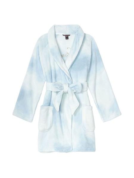 Халат Victoria's Secret Logo Short Cozy Robe Sky Blue