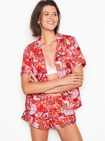 Пижама Victoria's Secret принт цветы