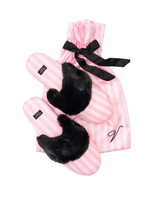 Домашние тапочки Victoria's Secret Slippers Signature Stripes