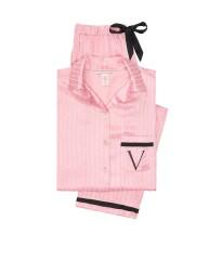Пижама Victoria's SecretThe Satin PJ Set Pink Stripes