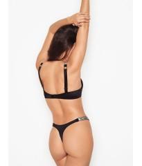 Трусики Victoria's Secret Very Sexy Crystal Logo Shine Strap Thong Black Panty