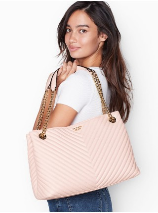 Cумка Victoria's Secret Pebble V-Quilt Pink