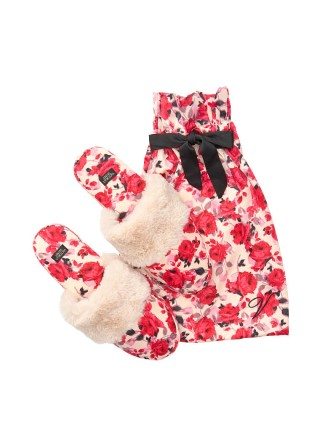 Домашние тапочки Victoria's Secret Slippers Print Red Roses