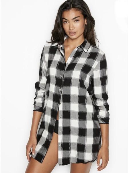 Ночная рубашка Victoria's Secret Фланелевая