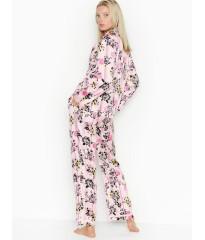 Сатиновая пижама Victoria's Secret The Satin PJ Set Flowers