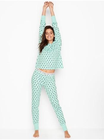 Пижама Victoria's Secret Mint Thermal Long PJ Set