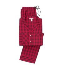 Фланелевая пижама Victoria's Secret The Flannel PJ Set Red Shadow Plaid