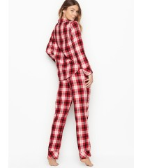 Фланелевая пижама Victoria's Secret Red Checked Plaid The Flannel PJ