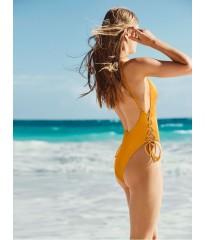 Купальник монокини Victoria's Secret PINK One-PieceRibbed GOLD GLOW