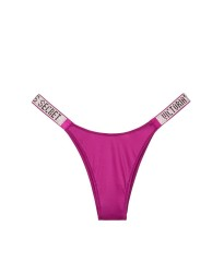 Трусики Victoria's Secret Very Sexy Crystal Logo Shine Strap Brazilian Panty BERRY DIVA